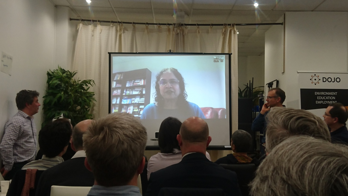 Saras Sarasvathy en Skype aux JFE 2020